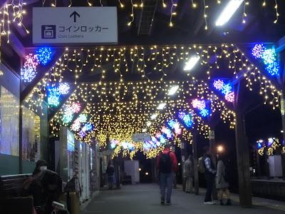江ノ電駅イルミネーション:長谷駅