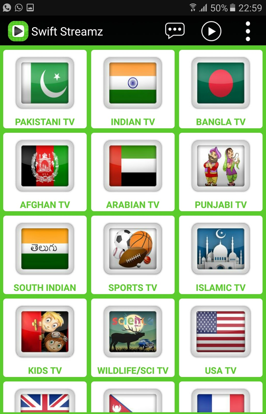 BEST APK FOR LIVE TV IPTV ON ANDROID NO ADS AND FREE-Swift
