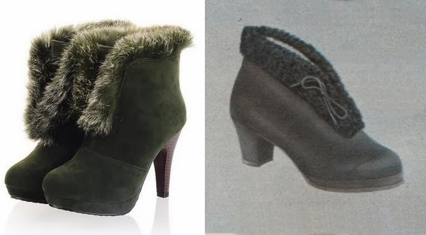 1940s gaytees style fur trimmed womens winter snow boots under $50