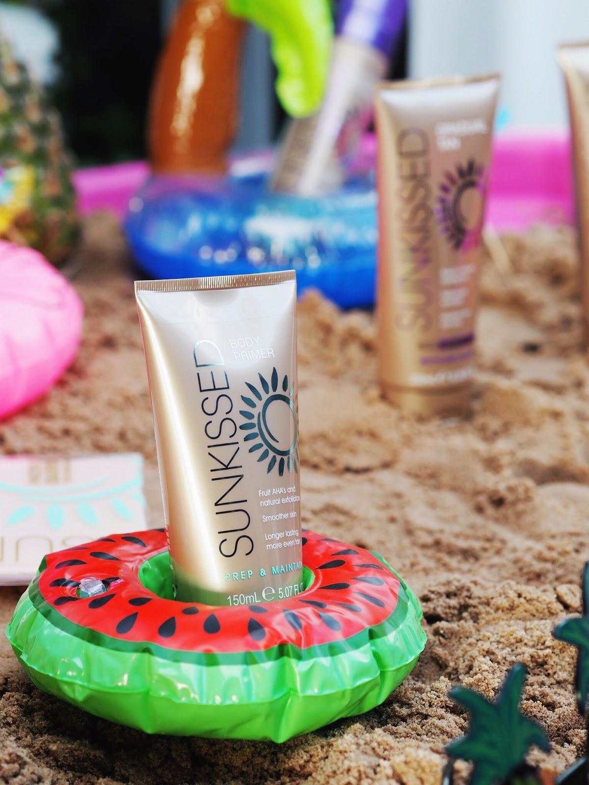 sunkissed fake tan prep and maintain fake tan body primer affordable good self tan superdrug