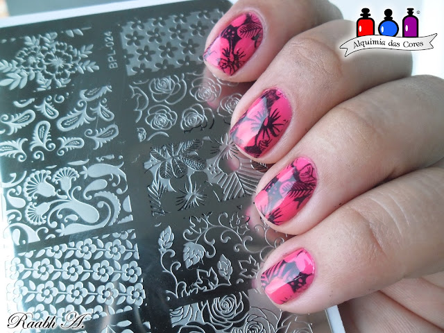 Unhas, Esmaltes, Outubro Rosa, Rosa Neon, Top Beauty, Shopping, Verão, Hibiscos, Born Pretty, BP-L024