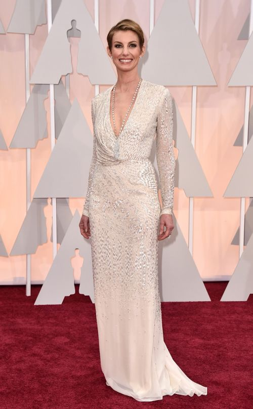 Faith Hill in J. Mendel at the Academy Awards 2015