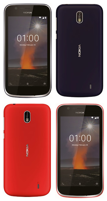 Nokia 1 Warm Red and Dark Blue