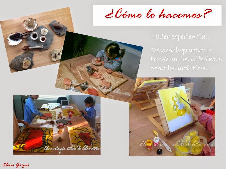 Talleres y clases de arte y pintura para niños. Elena Garzia estudio.