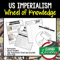 US Imperialism, Progressive Era, American History Activity, American History Interactive Notebook, American History Wheel of Knowledge