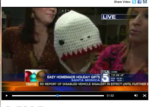 Sheep(ish) Yeti on KTLA Morning News! - Vickie Howell