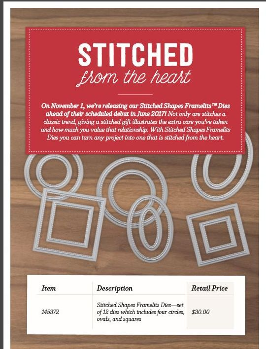 New Stitch Shapes Framelits