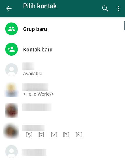 Tambah Kontak WhatsApp