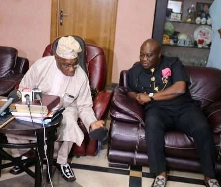 Abia Gov Delivers Aba-Made Shoes To Obasanjo - See Photos