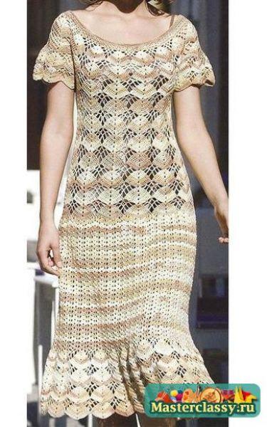 Patrón #1434: Vestido a Crochet