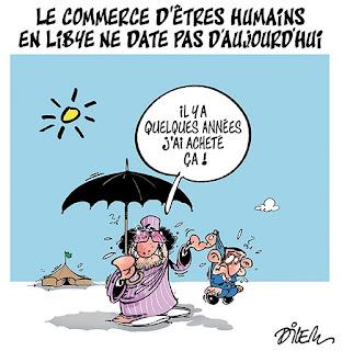 Commerce d'êtres humains en Libye