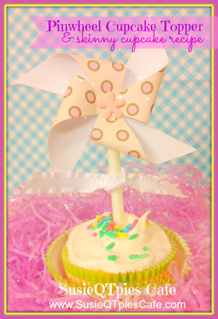 SusieQTpies Cafe: Skinny Funfetti Cupcake And Pinwheel