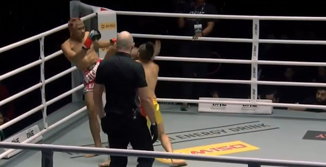 "Kingdom OF Heroes : Petchdam Kaiyanghadao (91-13-7) KOs Kenny ""The Pitbull"" Tse (39-5)  by knockout (head kick)"