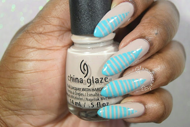 "Sloteazzy inspired nail art using China Glaze Desert Escape Collection ""What's She Dune? & Rain Dance The Night Away"""