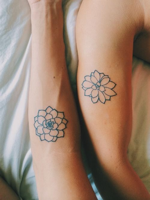 Floral Matching Tattoos