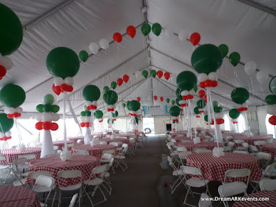 balloon arch, balloon centerpiece, balloon column