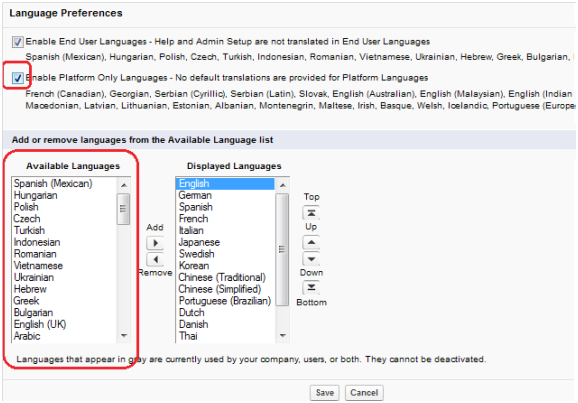Language settings and its importance in Salesforce  ~ Salesforce