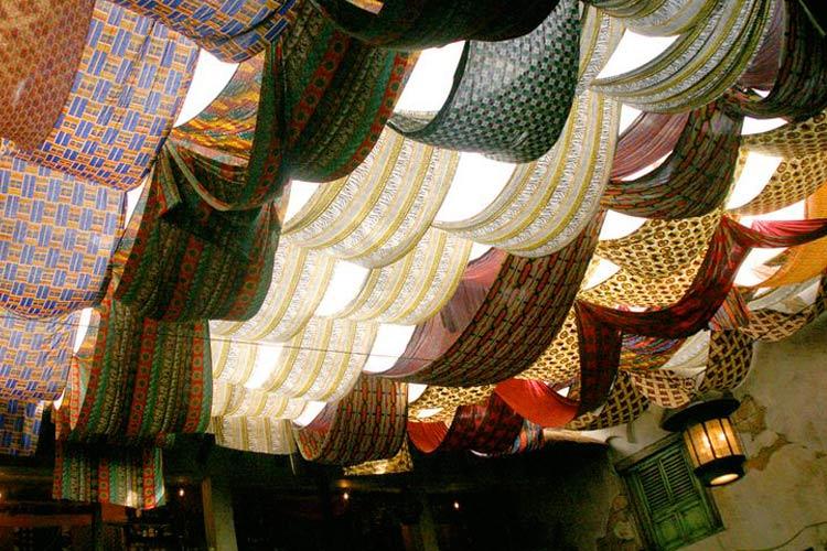 Marzua techos decorados con telas - Telas para terrazas ...