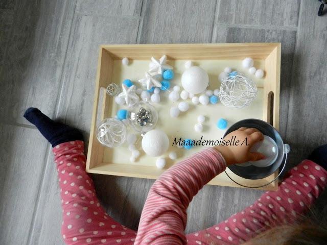 || Plateau sensoriel : Les décorations de Noël