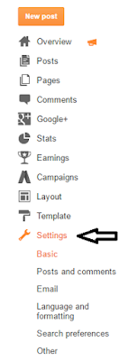 settings section details option for blogspot with tentopppest top 10