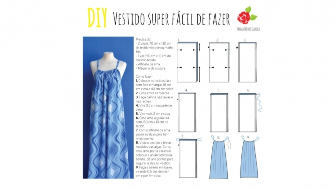 df2ce4ffc vestido fácil de costurar na máquina de costura
