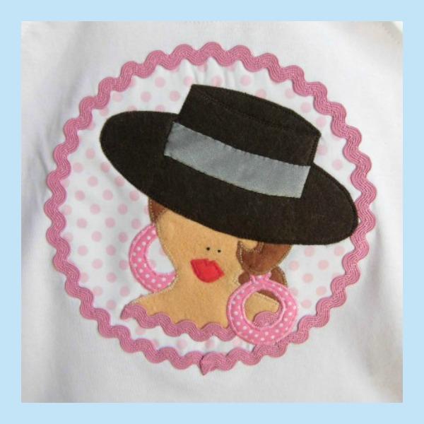 camisetas-flamencas-niña-personalizadas