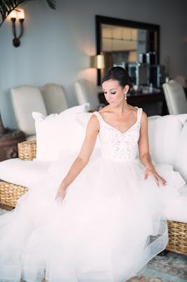 bride in big wedding gown