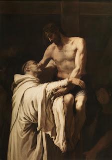 Francisco Ribalta - Cristo abrazando a San Bernardo