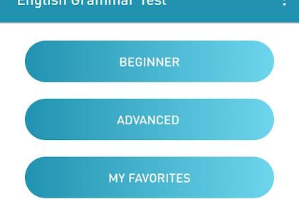 Aplikasi Belajar English Grammar Test
