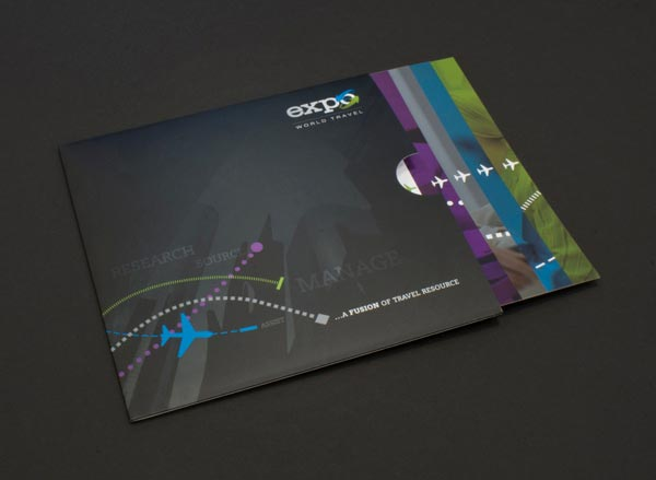 layout of a brochure