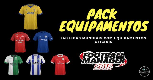 Os kits para a época desportiva 2017/2018 já se encontram disponibilizados no nosso site para melhorares o aspeto gráfico do teu Football Manager 2018.