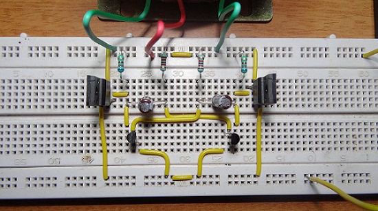 دائرة محول كهرباء من 12v الى 35w 220v
