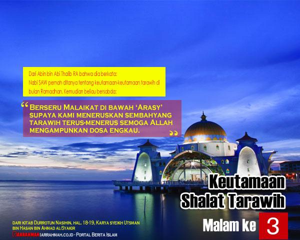Keutamaan Shalat Tarawih Malam Ketiga Ramadhan