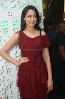 Pragya Jaiswal in Stunnign Deep neck Designer Maroon Dress at Nakshatram music launch ~ CelebesNext Celebrities Galleries 085.JPG