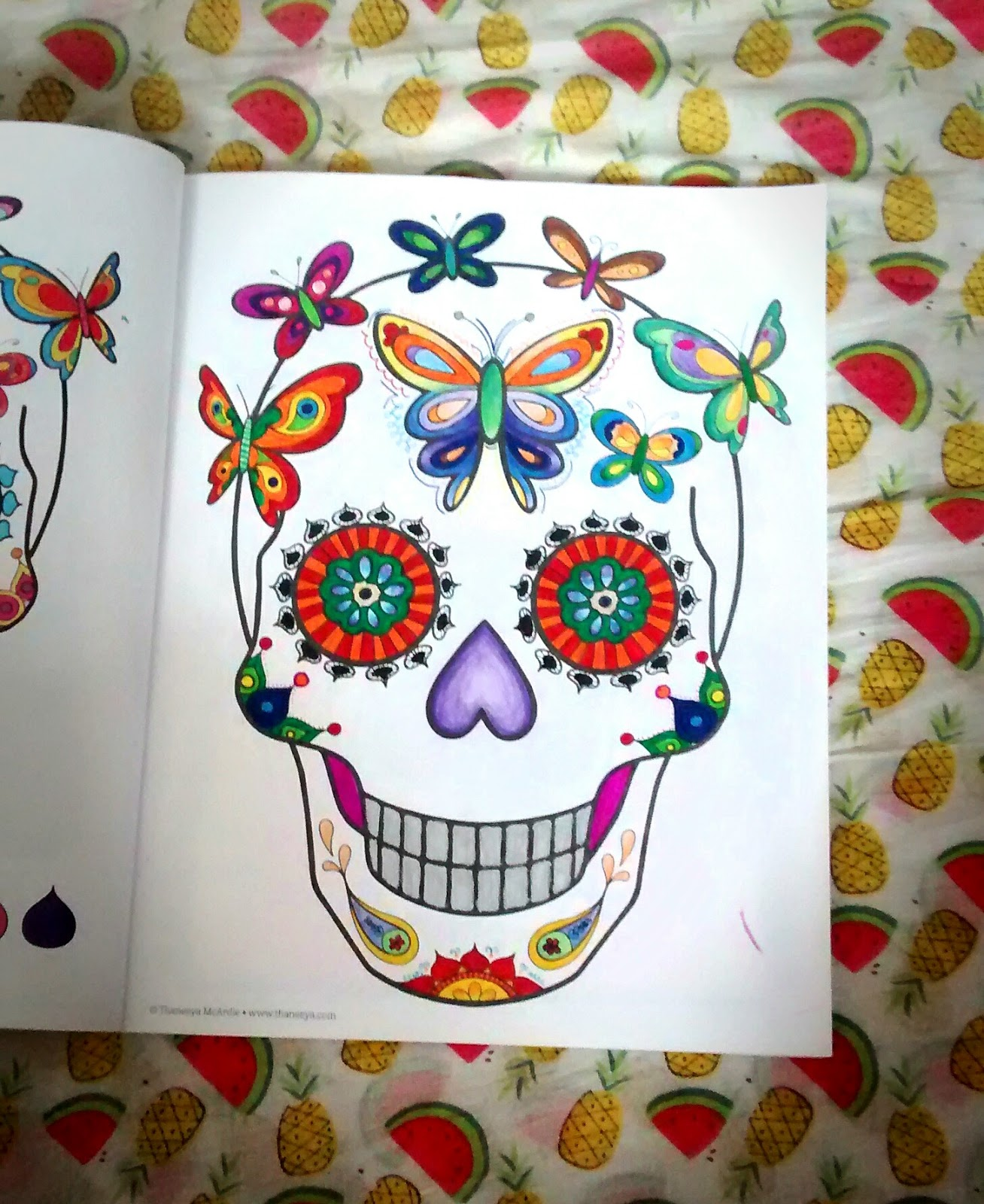 This Was The First Detailed Colouring Page I Completed Its In Day Of Dead Book Drawn By Thaneeya McArdle