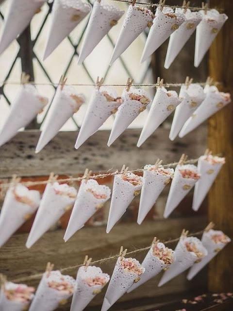 ideas para colocar el confeti en mi boda