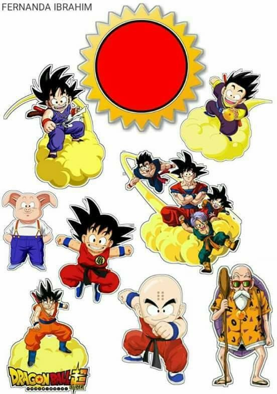 graphic relating to Dragon Ball Z Printable titled Dragon Ball Z: Free of charge Printable Cake and Cupcake Toppers