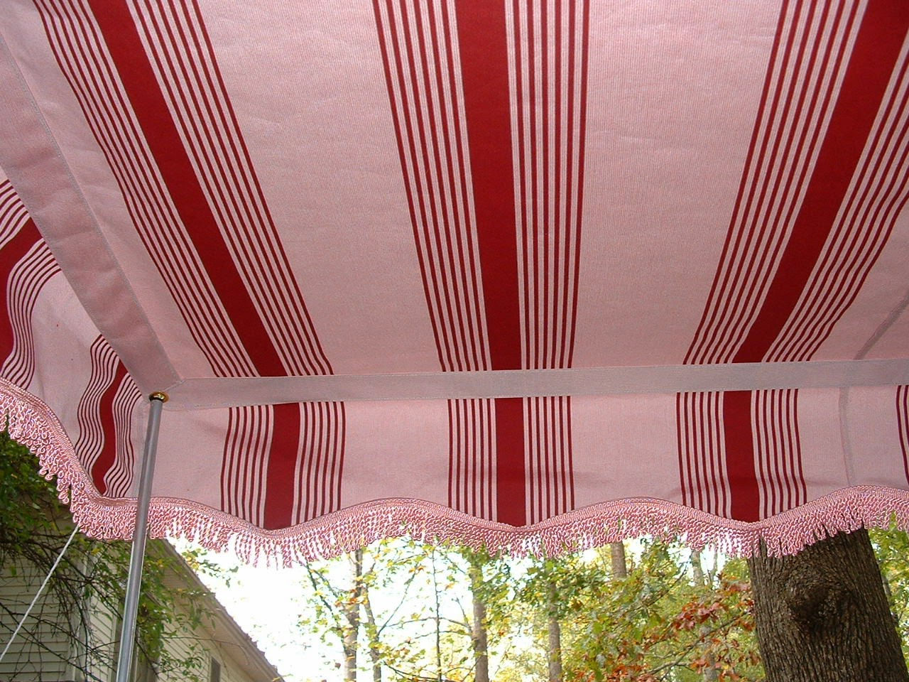 Vintage Awnings Pink Heavy Bullion Fringe On A Vintage