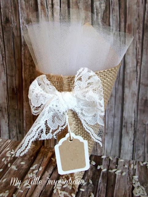 DIY Coni Portariso per Matrimonio in stile Rustico Romantico - tag - MLI