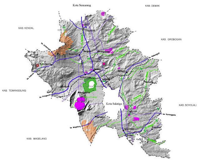 Gambar Peta infrastruktur Kabupaten Semarang