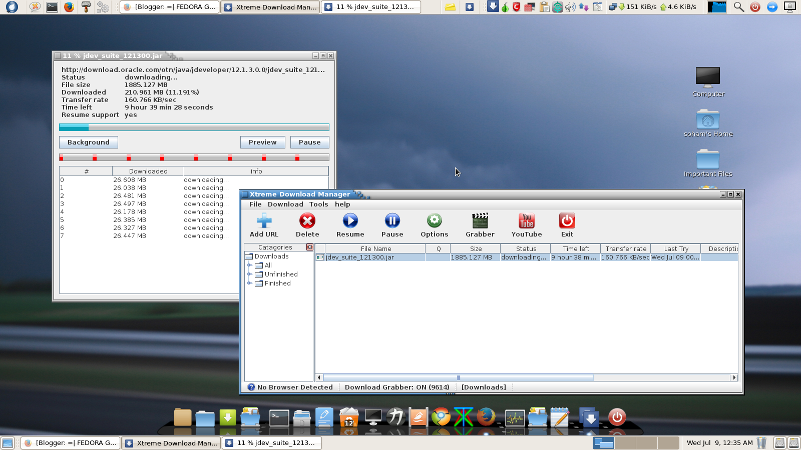 Xdm is a download manager for linux that ramps up your speed to 500%.