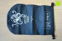 Vorderseite: Dry Bag »Krake« Wasserdichte Trockentasche / Seesack / Survival Bag / Trockensack / Ideal für Kajak, Kanu, Segeln, Angeln, Schwimmen, Strand, Snowboarden, Skifahren, Bootfahren, Camping / Schützt Deine Wertsachen und Kleidung vor Staub, Nässe, Sand und Schmutz / 5L gelb