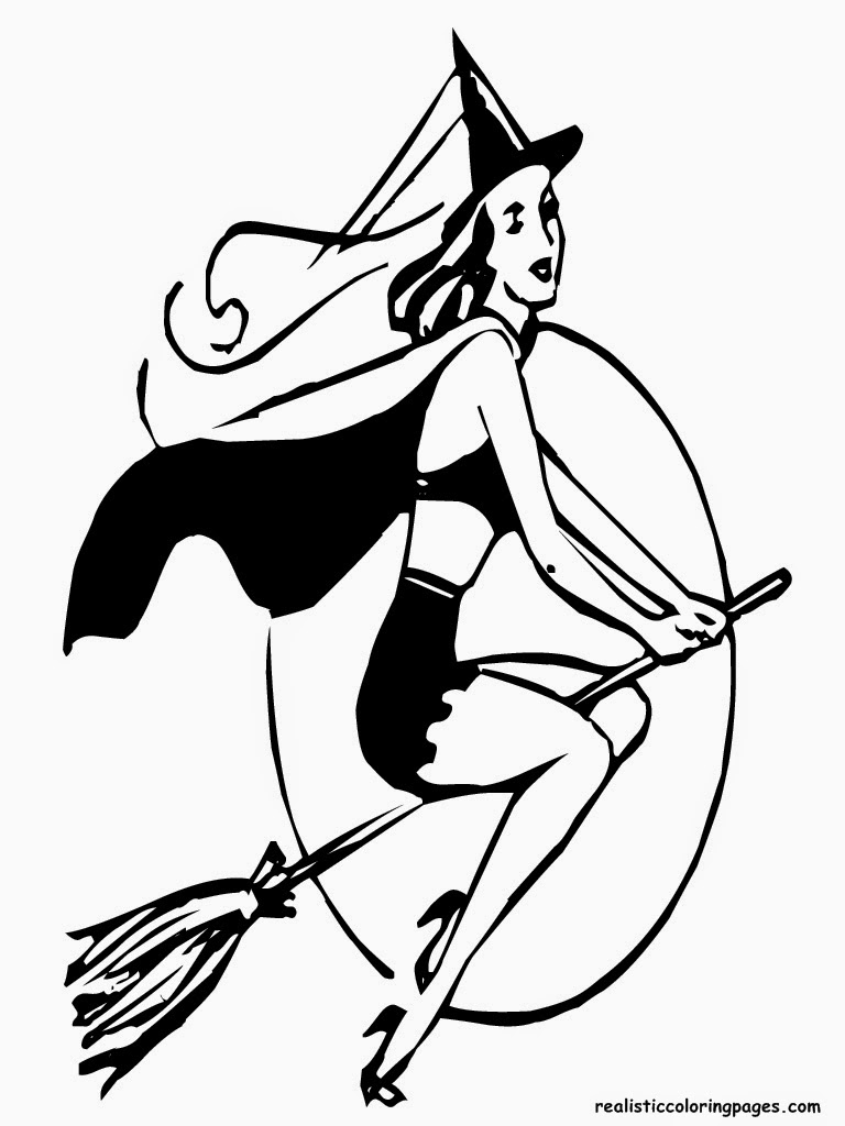 witches lady halloween coloring pages free to print
