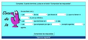 http://cplosangeles.juntaextremadura.net/web/lengua_tercer_ciclo/ortografia/uso_j/usoj01.htm