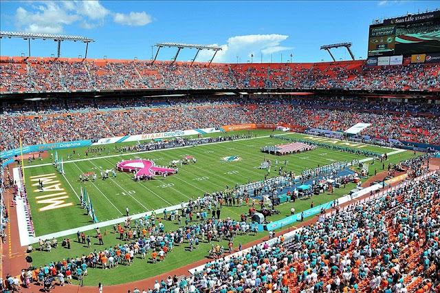 Dicas sobre como são os jogos do Miami Dolphins e NFL em Miami