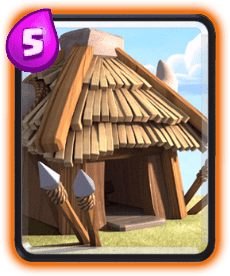 Carta da Cabana de Goblins do Clash Royale