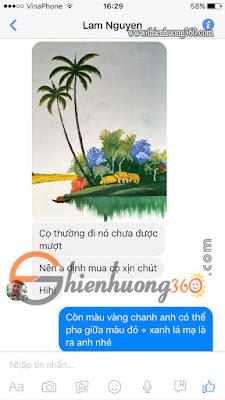 Khách mua sơn acrylic 3d Trà Vinh