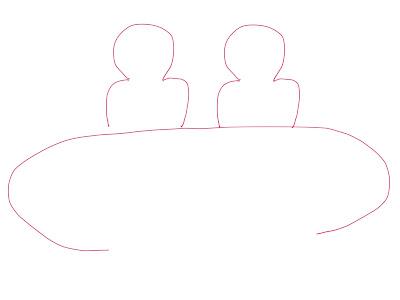 アイコン 「ミーティング」 (作: 塚原 美樹) ~ テーブルを描く