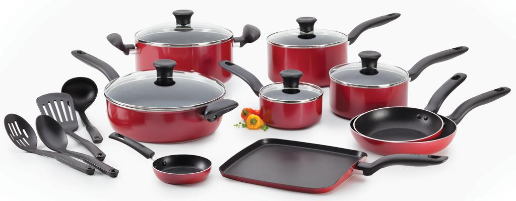 Best Cookware Sets-Get-45%-OFF-T-fal Initiatives Non-stick Charcoal 18-Piece