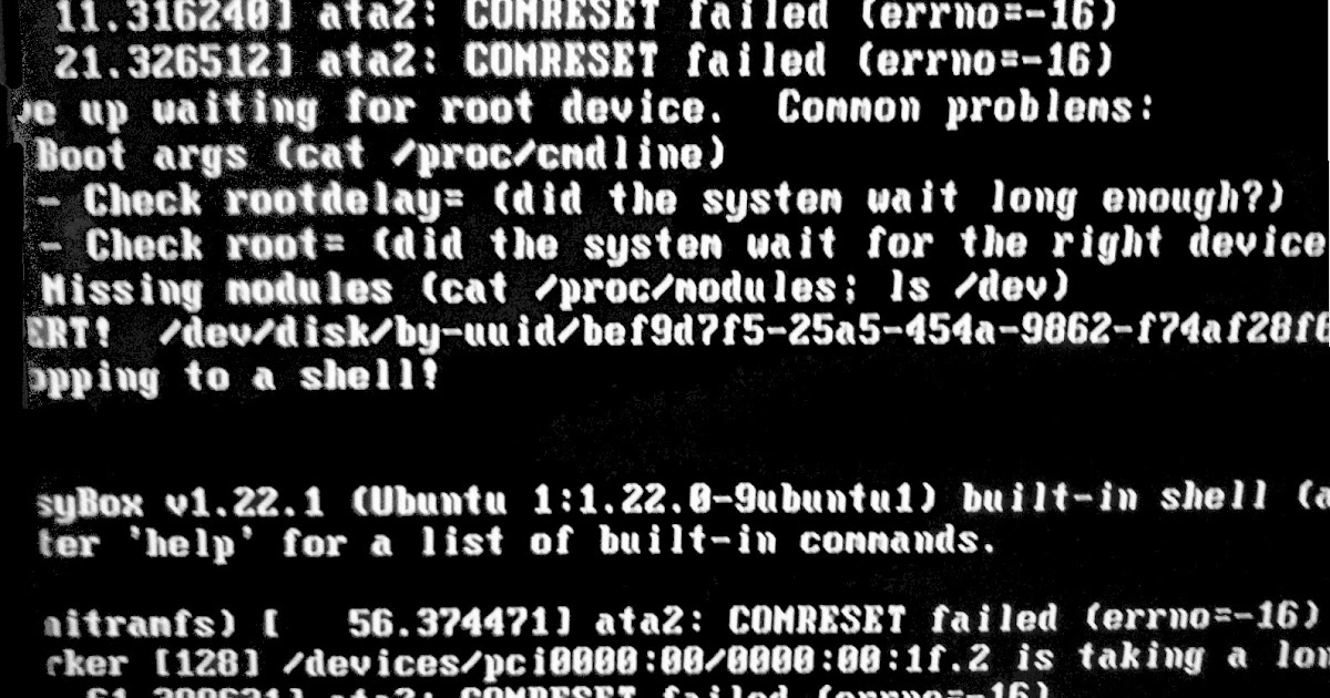comreset failed ubuntu